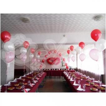 Оформление шарами на свадьбу «Комплект № 19»