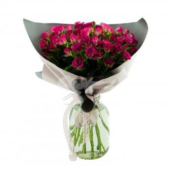11 Кустовых роз в большой упаковке